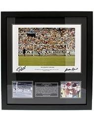 Pele & Gordon Banks - Dual Signed Framed Print