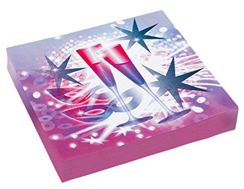 vesterdeko Tisch Partygeschirr 20 Stk. Star Serviette 33 x 33cm, Violett (Halloween-frühstück Essen)