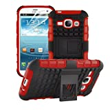 betterfon | Outdoor Handy Tasche Hybrid Case Schutz Hülle Panzer TPU Silikon Hard Cover Bumper für Samsung Galaxy S3 Mini Rot