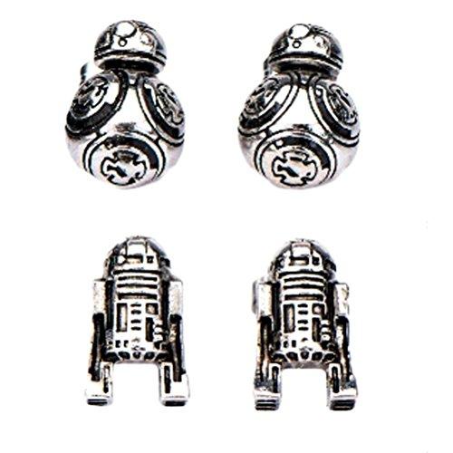Star Wars Official R2-D2 und BB-8 Droid Edelstahl Ohrringe Set