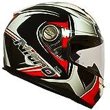 Nitro casco moto N2100Cypher, Black White Red