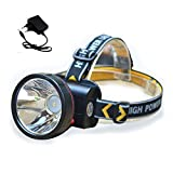 HJKL 1000LM LED Lámpara de Cabeza Recargable, 2 Modos de Luces Super Bright Head, Linterna para Camping Battery Battery Cycling Fishing Lámpara de Miner Resistente al Agua (1PCS)