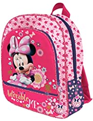 MINNIE - Grand cartable 3 zips 41cm ADORABLE ME Minnie Disney
