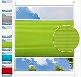 EUGAD VH5535gr, Plissee Rollo Jalousie Klemmfix Ohne Bohren/mit Bohren, für Fenster und Tür, Faltrollo Fensterrollo Sichtschutz Sonnenschutz, easyfix verspannt, 75x130 cm, Grau