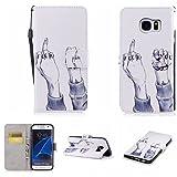 Nancen Samsung Galaxy S7 Edge / SM-G9350 (5,5 Zoll) Hülle , Magnetverschluss Standfunktion Brieftasche und Karten Slot , Taschen & Schalen