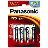 Panasonic LR6PPG/6BP Alkalin pro power kalem pil 1,5 Volt 4+2'li