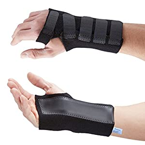 Actesso Advanced Wrist Support / Carpal Tunnel Splint / Black Wrist Brace for Immediate Pain Relief from Carpal Tunnel Syndrome, Wrist Pain, Sprains, RSI and Arthritis - Medically Approved - NHS Use