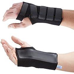 Actesso Fortgeschritten Handgelenkbandage handgelenkschiene mit schiene bandage (Mittelgroß, Rechts)- Sofortige schmerzlinderung für Karpaltunnelsyndrom - verstauchungen und handgelenk Arthritis
