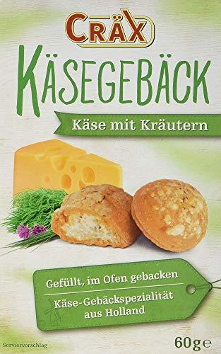 Preisvergleich Produktbild Cräx Käsegebäck gefüllt mit Käse und Kräutern 60 g,  7er Pack (7 x 60 g)