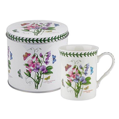 Botanic Garden Sweet Pea Motiv Becher und Zinn Set, Porzellan, mehrfarbig, 13x 13x 11,5cm -