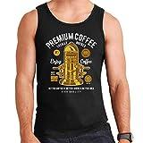Premium Coffee Vintage Machine Men's Vest