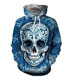 Lylafairy Blau Kapuzenpullover Halloween Kostüm Damen Herren Kinder Jungs Sweatshirts (Small, Blau)
