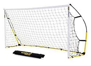 QUICKPLAY Kickster Ultra Portable Football Goal - 6 x4 ft, Black/Yellow. Change colour to Black, Yellow