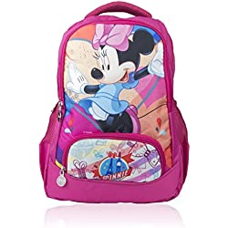 Disney School Bag For Boys & Girls 07+ Years Minnie 21 (L) Pink (Dm-0038)