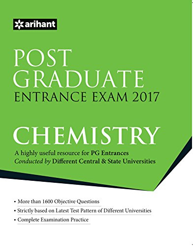Post Graduate Entrance Examinations 2017 CHEMISTRY