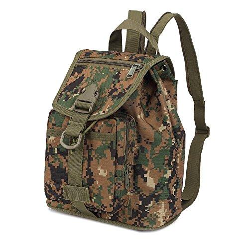 Rucksäck Kleine Kapazität Damen Damen Tasche Mode und Freizeit wasserdicht Camouflage Outdoor-rucksäcke jungle digital