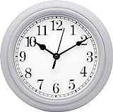 Ponera Orologio da parete rotonda–Orologio al Quarzo Ad Alta Precisione–con Tic Tac–Cucina Salotto Bagno–Diametro 22cm–bianco