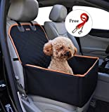 Pet Front Seat Cover for Cars Black Waterproof Dog Seat...