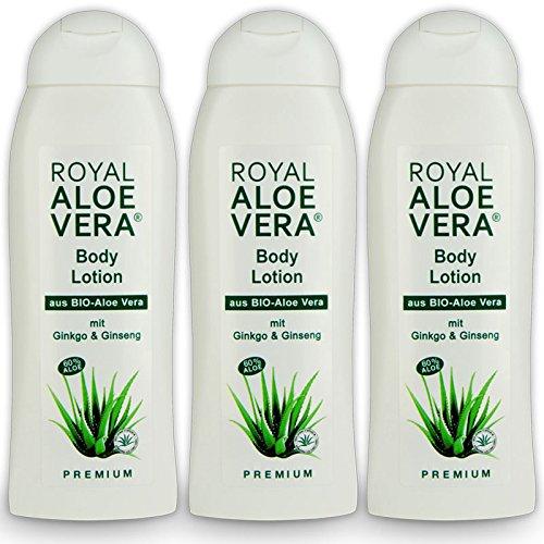 Royal Aloe Vera Body Lotion mit Ginko, Ginseng, 60% Bio Aloe Vera, Körper Lotion (3)