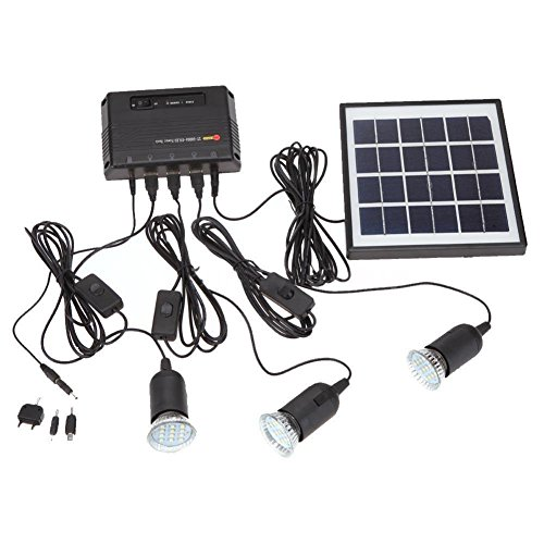SODIAL Outdoor Solar Power Led Lighting Bulb Lamp System Kit Del Pannello Solare Per La Casa