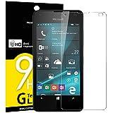 Panzerglas Nokia Lumia 550, NEWC® HD Display 9H Härte, Frei von Kratzern Fingabdrücken und Öl, 0.33mm Ultra-klar, panzerglas schutzfolie für Microsoft Lumia 550
