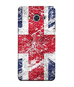 FUSON Designer Back Case Cover for Samsung Galaxy J3 Pro :: Samsung Galaxy J3 (2017) (The Crane Flying In The Blue Red Sky)