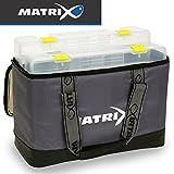 Fox Matrix Pro feeder case L - Angeltasche + 2 Angelboxen für Feederkörbe, Tackletasche zum...