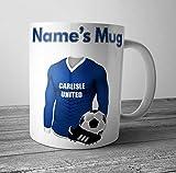 Carlisle United Football Mug - Personalised Gift - Add Any Name