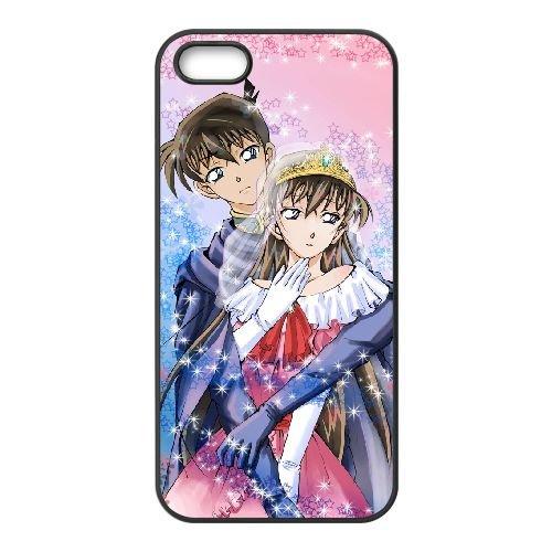 Detective Conan coque iPhone 4 4S Housse téléphone Noir de couverture de cas coque EBDXJKNBO10497