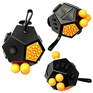 Fidget Cube, Innoo Tech 12 Sides Cube Anxiety Attention Toy, 12 Sides Fidget Dice Fidget Cube Toy, Relieves Stress and Anxiety, Good for Work, Study