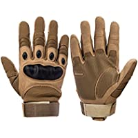 Oarea Full Finger Military Tactical Gloves Men 's Gloves Hiking Glove for Outdoor Sport Hunting Climbing Cycling, color caqui, tamaño large