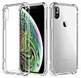 Vproof iPhone XS Max Hülle [Crystal Clear] iPhone Case Stoßfeste Ecke Kissens Bumper mit Harten PC-Rückseite & Verstärkten Weichen TPU-Rahmen für Apple iPhone XS Max 6.5-Zoll (2018)