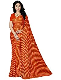 Rani Saahiba Women's Chiffon Saree without Blouse Piece