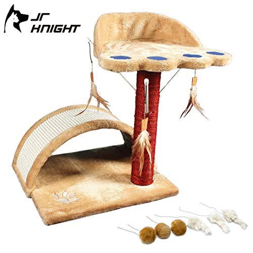 JR Knight CT101BLBG Katzenspielzeug mit Teaser Ersatz für kleine Katzen, Kratzbaum und Haustiermöbel