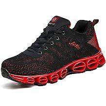 cheaper 446c7 d1b44 Chaussure de Sport Homme Sneakers Textile Course entraînement Running  Antichoc antidérapant (Recommandez la Taille Un