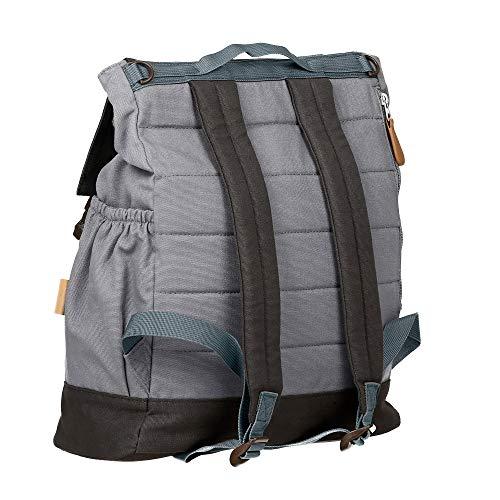 Lässig Vintage Little One und Me groß Backpack Wickelrucksack/Wickeltasche inkl. Wickelzubehör, grey - 6