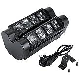 2-tlg 60W LED Sound Mini Spider Bühne Strahl DMX512 Bühnenlicht Lampenkopf Schwarz