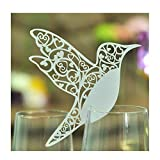 Jypc Laser cut Hummingbird Name Place Cards, Pack of 50, White