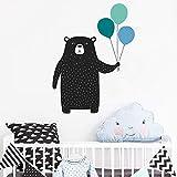 wukongsun Niedlicher Bär mit Ballon Wandaufkleber Wald Tier Vinyl Wandtattoo für Kinderzimmer Schlafzimmer Kinderzimmer Wandtattoo Dekoration 50.4cm x 74.4cm
