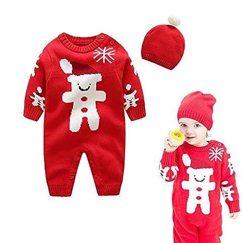 Bébé Père Noël Chapeaux - Vine Bébé Combinaison Père Noël Vêtement Set