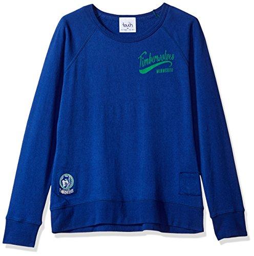 NBA Damen Sweatshirt Atlanta Hawks Dugout Reversible Pullover, Damen, Touch Dugout Reversible Sweatshirt, königsblau, Medium Reversible Sweatshirt