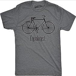 Crazy Dog Tshirts - Mens Cycologist Funny Psychology Biking Cyclist Pun Biker Tee T Shirt (Grey) S - Camiseta Divertidas