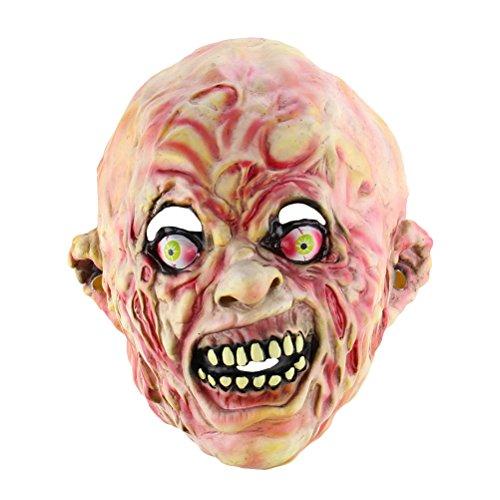 máscara de Halloween Furcht erregende Cosplay Toothy Zombie Geistermaske Horror gruselige Maske Para Las Fiestas ()