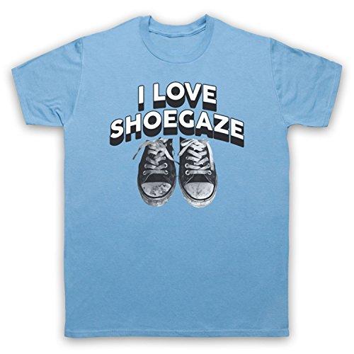 I Love Shoegaze Indie Alternative Rock Fan Herren T-Shirt Hellblau
