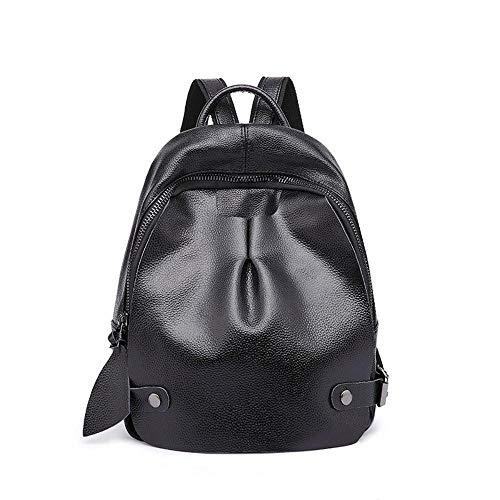 Sxuefang Leder Rucksack Damen Leder Frau Tasche Mode Kuh Handtasche Handtasche 24x11x33cm