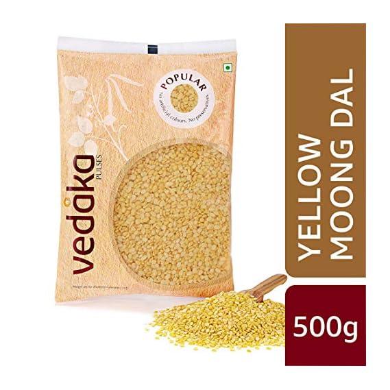 Amazon Brand - Vedaka Popular Moong Dal (Yellow), 500g