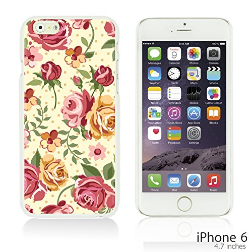 OBiDi - Flower Pattern Hardback Case / Housse pour Apple iPhone 6 / 6S (4.7 inch)Smartphone - Small Red Roses Pink Yellow Roses