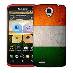 Snoogg Indian Flag Designer Protective Back Case Cover For LENOVO S820