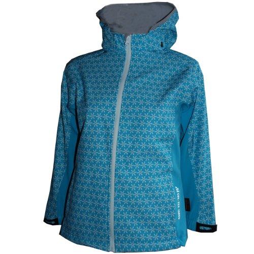 Cox Swain Kinder 3-Lagen Outdoor Softshell Jacke Hannah - 10.000mm Wassersäule 5.000mm atmungsaktiv, Colour: Blue, Size: 7/8