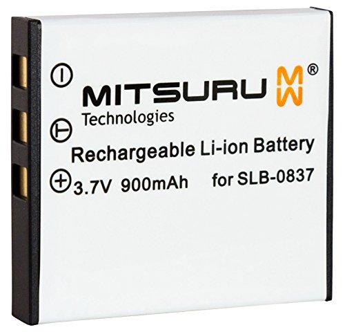Mitsuru 900mAh batería para Samsung, Fuji SLB-0837 SLB0837 recambio para Samsung Digimax L83 L83T...